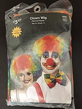 Multi-Colored Adult Size Clown Wig Age 14+ Halloween Costume Hair New