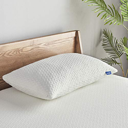 Pillows for Sleeping, Sweetnight Shredded Memory Foam  Bed Pillows, Suitable for Side/Back/Stomach Sleepers, CertiPUR-US Certified, Queen Size, White (SWN-P001-Q)