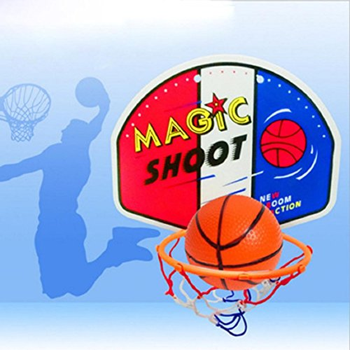 Naladoo NaladooKids Toy Basketball Hoop Board Plastic Hoop Set With Indoor Hanging Hoops Game
