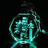 Cartoon Game Clash Of Clans Color Change Crystal Led Key Chain Key Ring Pendant (05)
