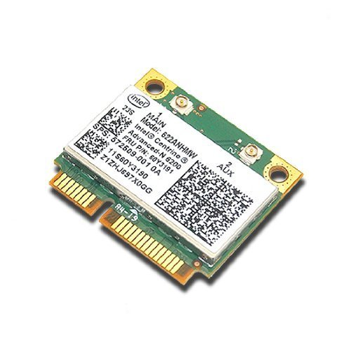 Intel Wireless Card 6200 AGN Pci-e Half Size Card 300 Mbps 802.11 A/g/n for IBM