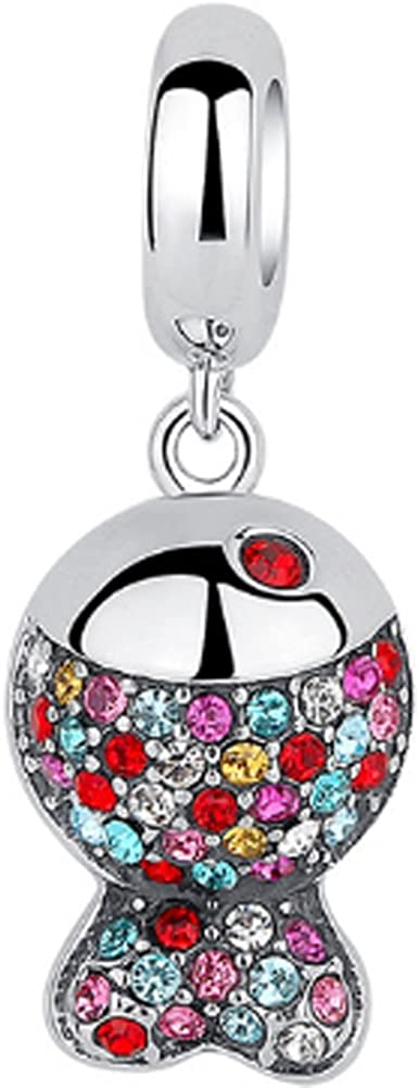 925 Sterling Silver Colorful Fish Charm Bead Fit Original Chariot Trading