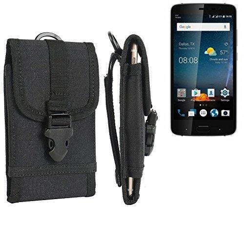 bolsa del cinturón / funda para ZTE Blade V8 Pro, negro   caja del teléfono cubierta protectora bolso - K-S-Trade (TM)