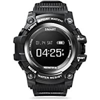 Wireless Bluetooth Smart Watch Waterproof Activity Fitness Tracker Heart Rate Monitor with USB Charging Cable