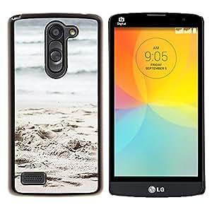Eason Shop / Premium SLIM PC / Aliminium Casa Carcasa Funda Case Bandera Cover - Ondas de arena de la playa del océano - For LG L Prime D337 / L Bello D337