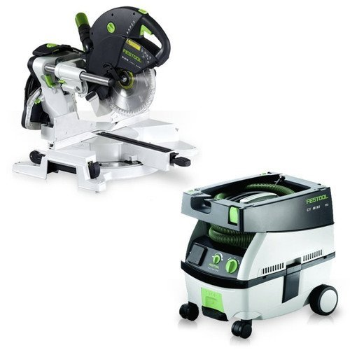 Price comparison product image Festool PM561287 Kapex Sliding Compound Miter Saw with CT MINI 2.6 Gallon Mobile Dust Extractor