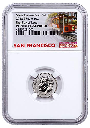 2018 Silver Reverse Proof Roosevelt Dime FDI Trolley L $0.10 PF70 NGC - Ngc Dimes