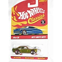 Classics Series 3 #8 Nitty Gritty Kitty Gold 5-Spoke Redlines Collectible Collector Car Mattel Hot Wheels by Hot Wheels