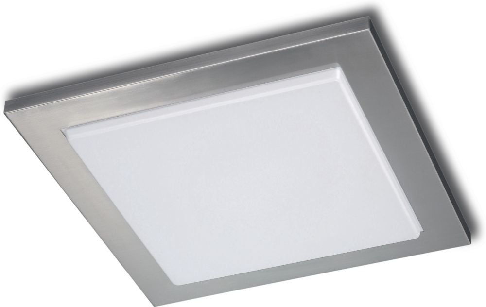philips roomstylers square flushmount ceiling light matte chrome flush mount ceiling light fixtures amazoncom