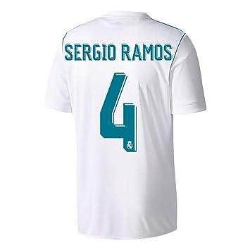Camiseta del Real Madrid de Sergio Ramos Nro. 4, 2017, 2018 ...