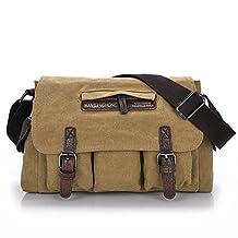 Lopkey Men's Business Canvas Bag Wild Shoulder Messenger Bag