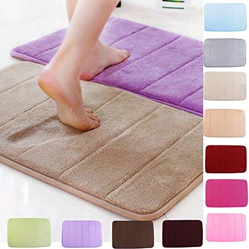 50x80cm Stripe Pattern Memory Foam Mat Absorbent Bathroom Anti Slip Carpet(Random: Color)