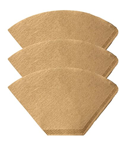 300 Replacements for Unbleached Natural Brown Paper #4 Coffee Disposable Cone Filters, Fits All Coffee Makers With #4 Filters including Melitta, Great for Homemade Coffee, by Think (Cone Filter Paper Natural)