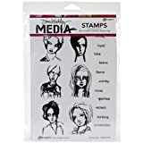 Dina Wakley Media Rubber All the Gals Cling Stamps, Multi-Colour by Ranger