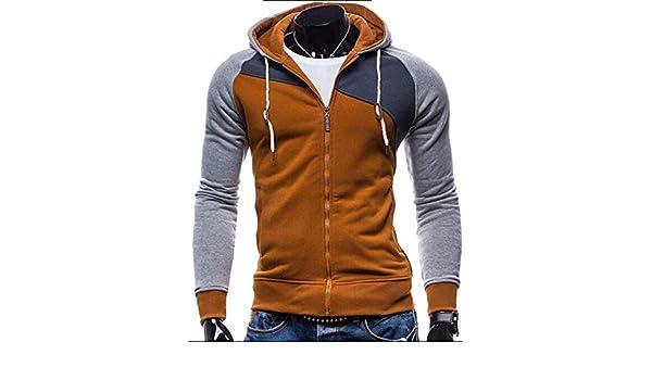Amazon.com: NanGate 2018 Hoodies Men Sudaderas Hombre Hip Hop Mens Brand Leisure Zipper Jacket Hoodie Sweatshirt Slim Fit Men Hoody XXL,Khaki,M,China: ...
