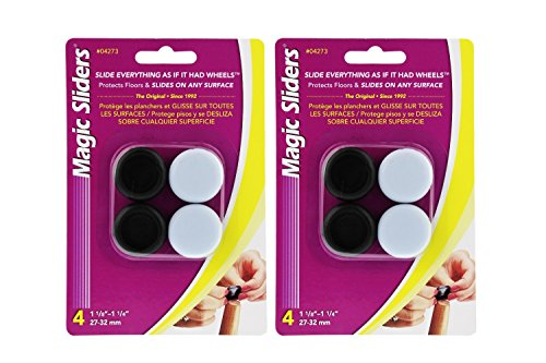 Magic Sliders 04273 1-1/8'' To 1-1/4'' Round Self Gripping Magic Sliders® 4 Count by Magic Sliders