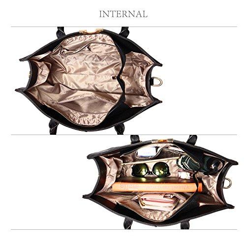 Leather Style Bag Women Laptop Tote Faux Designer 2 Ladies Large Shoulder Patent Black Xardi Handbag London 0q6AHHp