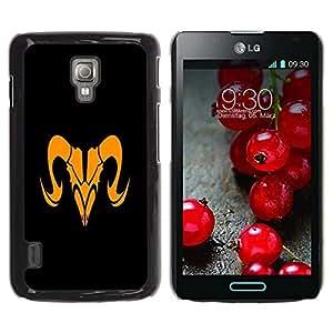 Be Good Phone Accessory // Dura Cáscara cubierta Protectora Caso Carcasa Funda de Protección para LG Optimus L7 II P710 / L7X P714 // Orange Taurus Sign