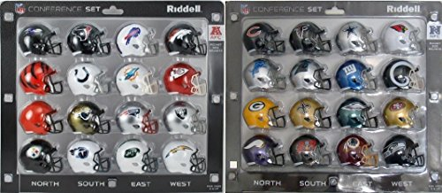 NFC & AFC Speed Pocket Pro Mini Helmet Conference Sets - 32 Helmets - All current NFL teams