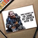 Share Chicken, Tormund Card, GoT Anniversary Card, Game Of Thrones Card, Wife Birthday Card