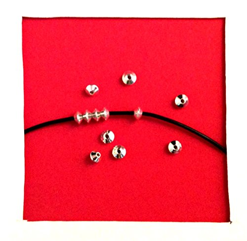 50 pcs .925 Sterling Silver Saucer Seamless Bead Spacer (3.5mm)/Findings/Bright