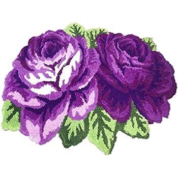Amazon Com Abreeze Rose Rug Flower Shape Door Mats Entry