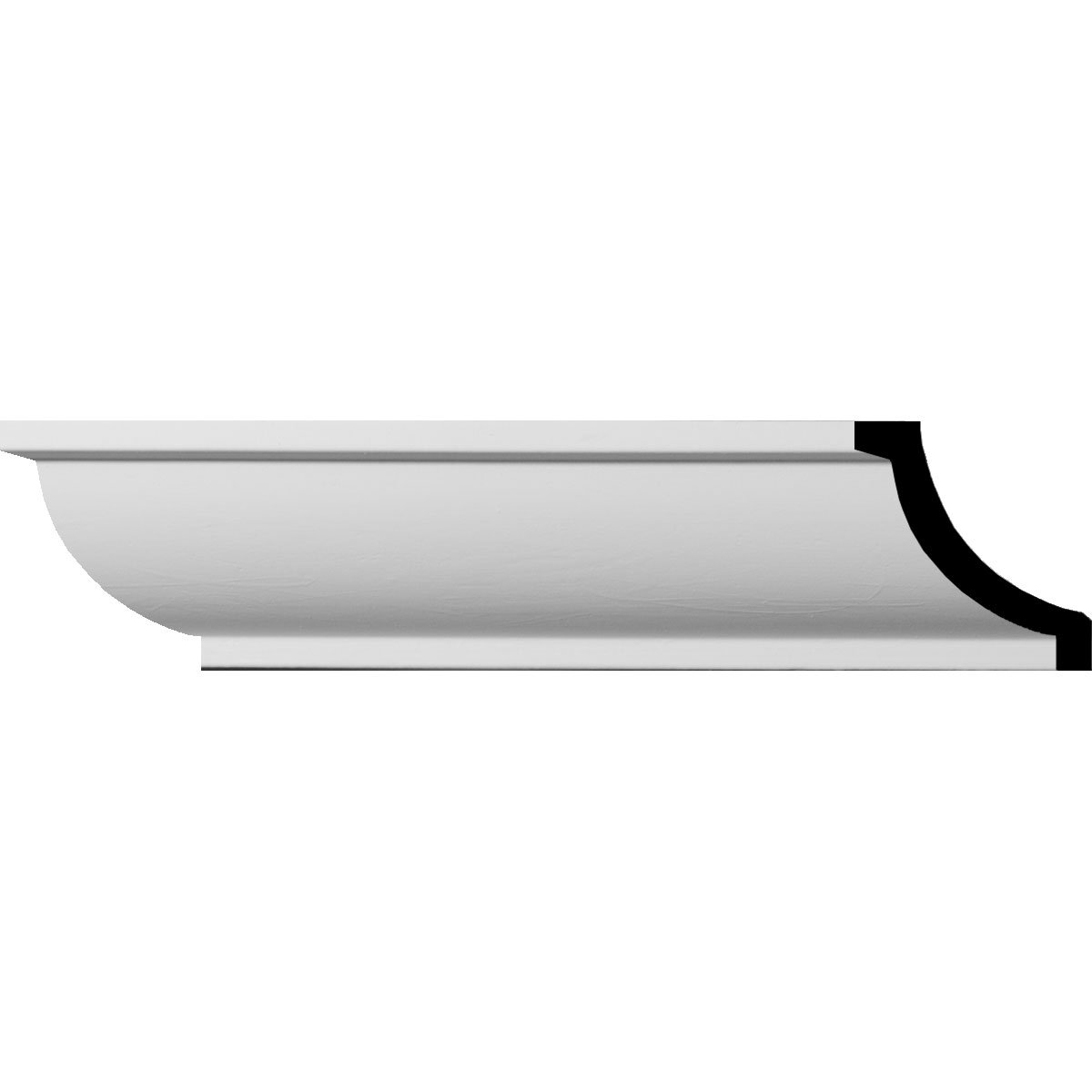 Ekena Millwork MLD01X01X02AS-CASE-2 1-1//2 H x 1-1//2 P x 2-1//8 F x 96 L Ashford Smooth Mini Crown Molding 2-Pack