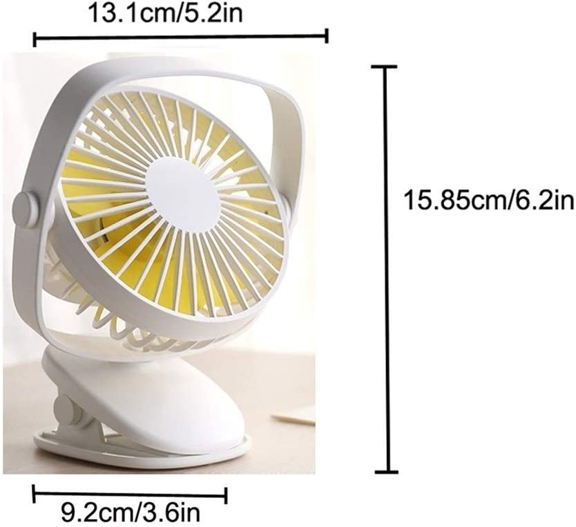 Color : White Mini Portable Cooling Fan USB Rechargeable Mini Fan Air Cooler Clip Desk Fan Home Student Dormitory Bedside Portable Desktop Fan