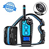 Training Dog Collar - GLOUE Dog Training Collar,1640FT Remote Shock Collar for Dogs,Waterproof and Rechargeable,Beep/Vibration/Shock w/3 Training Modes for Small Medium Large Dogs