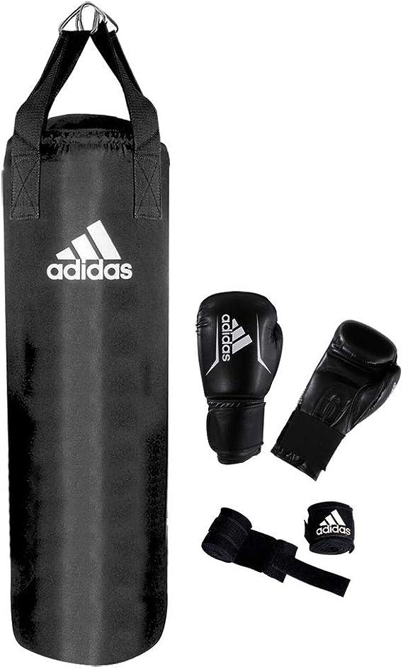 Adidas Set De Boxeo Guantes Saco Color Negro 10 Oz Amazon Es Deportes Y Aire Libre