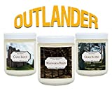 Book Candles - Outlander - Soy Candle Set Includes Castle Leoch, Wentworth Prison, Craigh Na Dun - 3 x 4 oz Natural Candles - Literary Gifts For Book Nerds