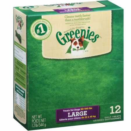 DISCONTINUED: GREENIES Dental Chews Large Treats for Dogs - 1.6 oz. 1 Treat