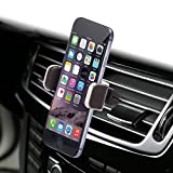 Dash Crab MONO, Genuine Leather Cell Phone Car Mount, Luxury Premium Air Vent Car Mount Holder Cradle for iPhone 7 8 Plus X 6 6s Samsung Galaxy S7 S6 Edge Note 5, Universal Grip, Retail Pack (Brown)