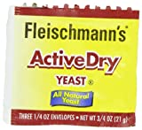 Fleischmann's Yeast Active Dry, 0.75-Ounce Pouches (Pack of 5)