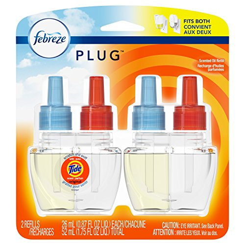 Febreze Plug In Air Freshener Scented Oil Refill, Tide Original, 2 Count (Packaging May Vary)