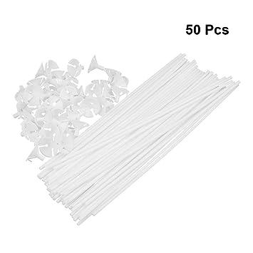 Yeahibaby 50pcs Soportes Para Globos De Aluminio Con Vaso Para