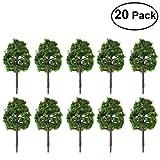 WINOMO Scenery Landscape Model Tree 9CM Artificial Plants Dark Green Pack of 20