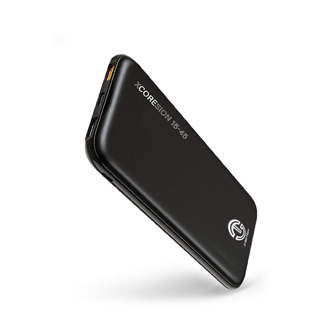 Smallest and Lightest 45W USB-C PD Powerbank | XCOREsion 15-45 by J-Go Tech | Only Weighs 12oz | Portable Charger for Nintendo Switch, MacBook, Laptops, Tablets and Phones (Standard, 15,000mAh) by J-Go Tech