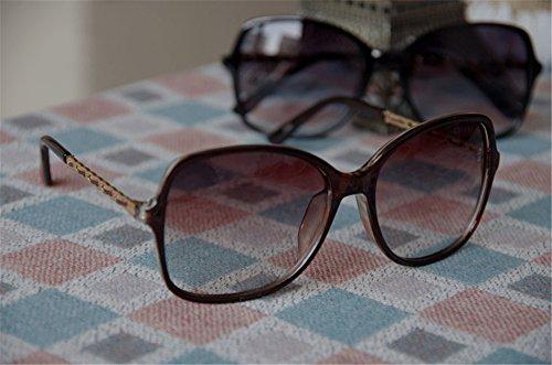 Brown nbsp; shades 100 Women's UV classique lunettes Protection surdimensionnées DESESHENME wSqFnPCp