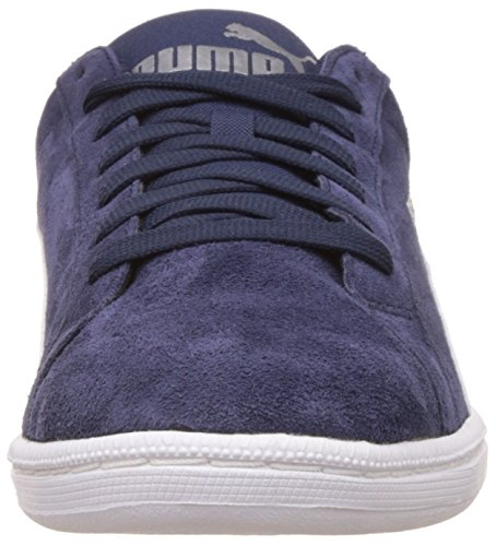 PUMA Smash SD en cuir Hommes véritable sneaker Bleu 361730 02