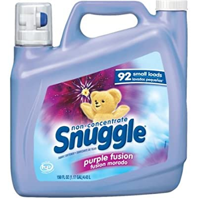 Snuggle Non Concentrate Fabric Softener, Purple Fusion set of 4, 150 fl. oz per Jug a Total of 600fl. oz