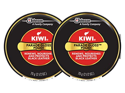 Kiwi Parade Gloss Shoe Polish - Black - 2.5 oz. - Large (Pack - 2)