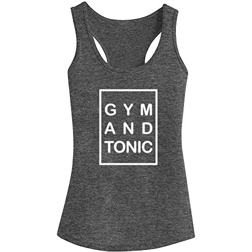 Women Tonic - Loo Show Womens Gym and Tonic Fitness Workout Racerback Tank Tops - Heathered Grey