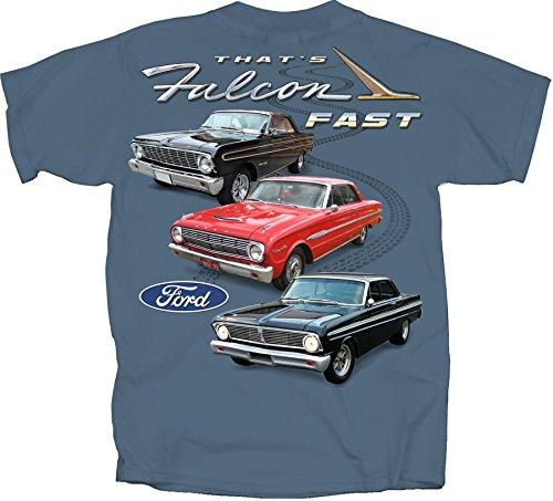 (Joe Blow T's Ford Falcon T-Shirt 100% Cotton Preshrunk - Blue - by )