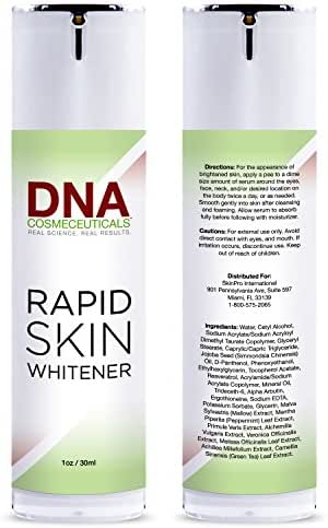 Dark Spot Corrector for Face and Body | DNA Cosmeceuticals Rapid Skin Whitener | Fades Uneven Skin Tone and Hyperpigmentation | Fast Acting Skin Lightening Treatment
