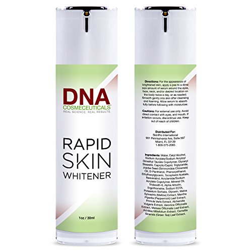 - Dark Spot Corrector for Face and Body | DNA Cosmeceuticals Rapid Skin Whitener | Fades Uneven Skin Tone and Hyperpigmentation | Fast Acting Skin Lightening Treatment