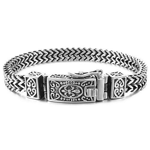 INBLUE Men's Stainless Steel Link Bracel...