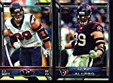 Houston Texans 2015 Topps NFL Football Complete Mint 15 Card Team Set Including 4 Different JJ Watt Card plus Jadeveon Clowney and More