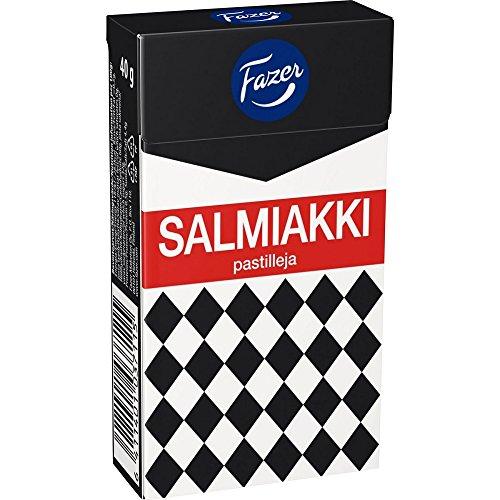 4 Boxes x 40g of Fazer Salmiakki - Original Finnish Salty Li