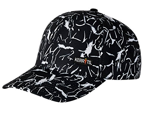 Kerrits Printed Ball Cap Black Etched Horses Size: One Size